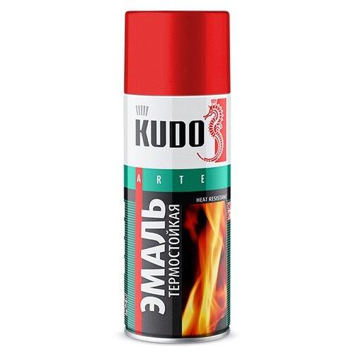 Фото - Эмаль KUDO термостойкая красный 520 мл эмаль kudo термостойкая