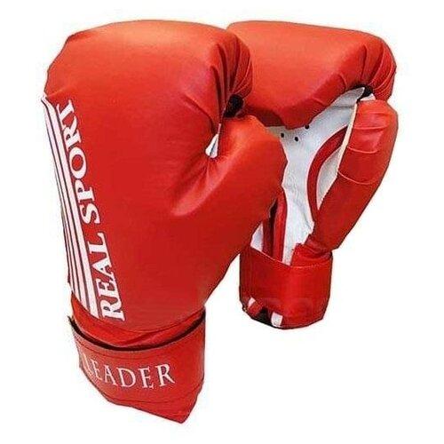 Боксерские перчатки Realsport Leader красный 8 oz