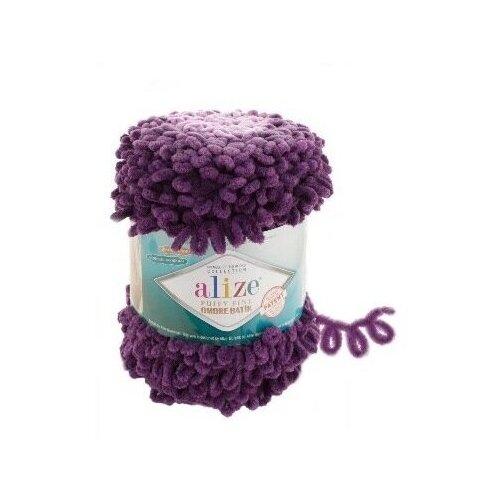 Купить Пряжа Alize Puffy Fine Ombre Batik, 100 % полиэстер, 500 г, 73 м, 7277 фиолетовый