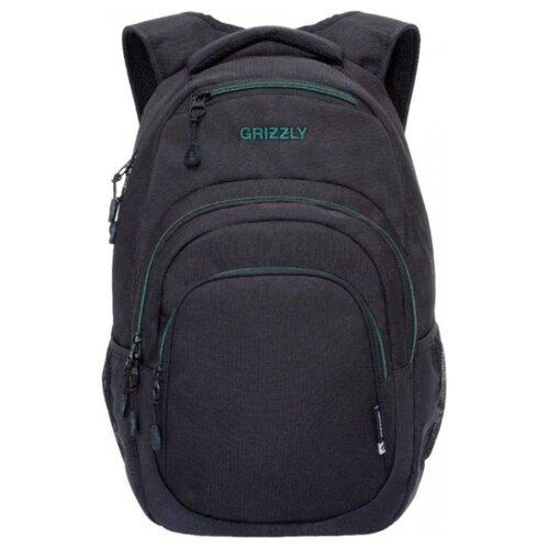 Рюкзак Grizzly RQ-003-3/2 21 (черный/бирюзовый) рюкзак grizzly ru 802 3 2 16 черный черный