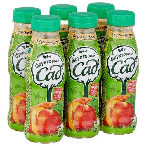 цена на Нектар Фруктовый сад Яблоко-Персик, в пластиковой бутылке, 0.3 л, 6 шт.