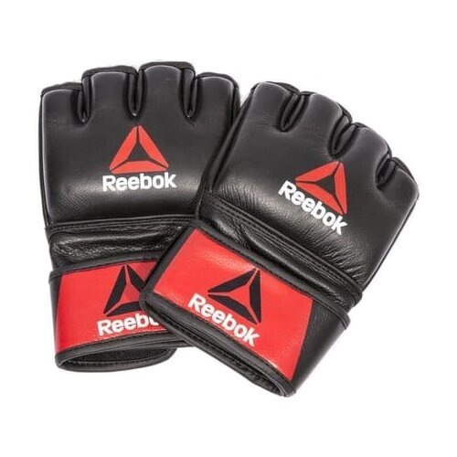 Тренировочные перчатки REEBOK MMA Glove для MMA черный/красный M перчатки для mma reebok glove medium rscb 10320rdbk