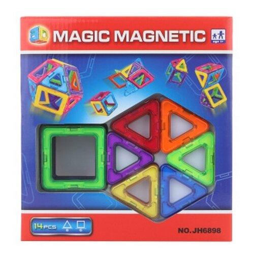 Купить Магнитный конструктор Наша игрушка Magic Magnetic JH6898, Конструкторы
