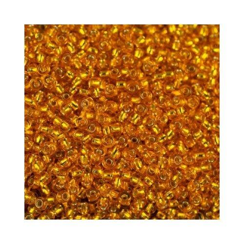Купить Бисер Preciosa , 10/0, 50 грамм, цвет: 87060 оранжевый, Фурнитура для украшений