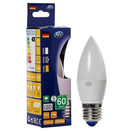 Фото - Лампа светодиодная REV 32348 8, E27, C37, 7Вт лампа светодиодная led e27 8 5вт 220v 2700к rev