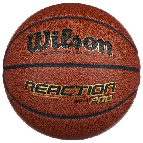 цена на Баскетбольный мяч Wilson Reaction PRO, р. 6 темно-коричневый