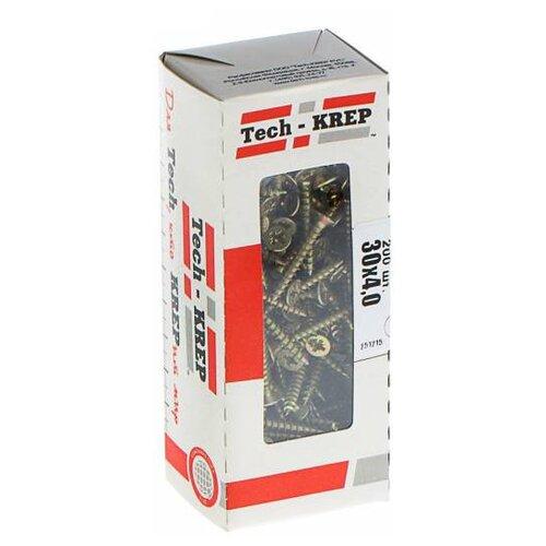 Саморез Tech-KREP 102229 3.0x40 200 шт саморез tech krep 3 5 35 редкая резьба 1кг