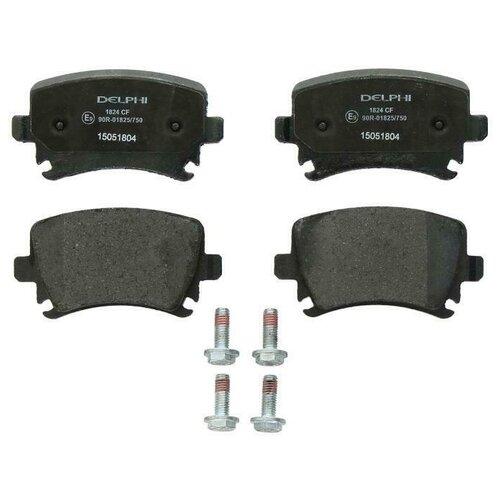 Дисковые тормозные колодки задние DELPHI LP1824 для Audi, SEAT, Skoda, Volkswagen (4 шт.) фото