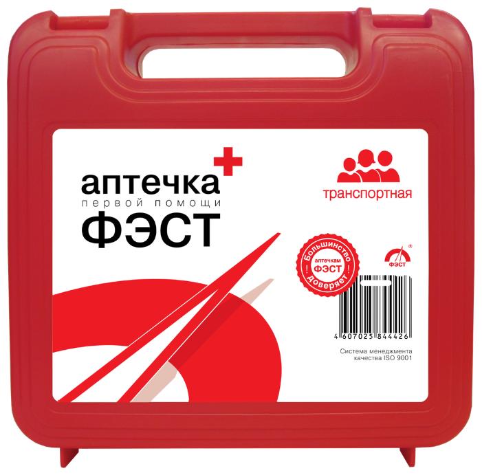 Аптечка автомобильная ФЭСТ Транспортная состав № 3 футляр № 6