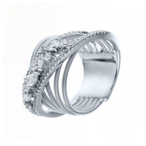 Фото - ELEMENT47 Широкое ювелирное кольцо из серебра 925 пробы с кубическим цирконием DM2259R_KO_002_WG, размер 18 element47 широкое ювелирное кольцо из серебра 925 пробы с кубическим цирконием 05s2azr104804curi 001 wg размер 18