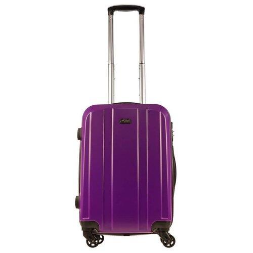Чемодан Alezar Sumatra S 34 л, фиолетовый