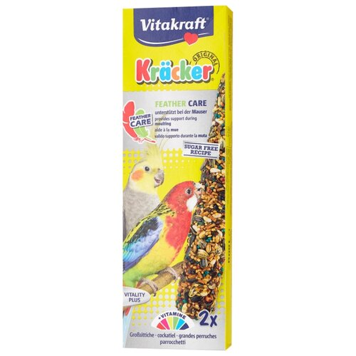 Лакомство для птиц Vitakraft Крекеры для средних попугаев при линьке (21294) 180 г