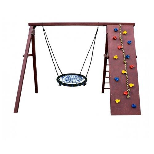 Спортивно-игровой комплекс Kampfer Rocky гнездо среднее коричневый/синий