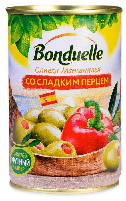 Bonduelle Оливки со сладким перцем, жестяная банка 314 мл
