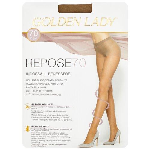 Колготки Golden Lady Repose 70 den, размер 5-XL, melon (бежевый) колготки golden lady repose 40 den размер 5 xl natural бежевый