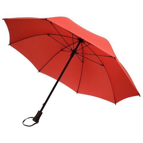 Зонт-трость механика Stride Hogg Trek красный зонт трость для коляски magic rain механика цвет розовый металлик 11919 1