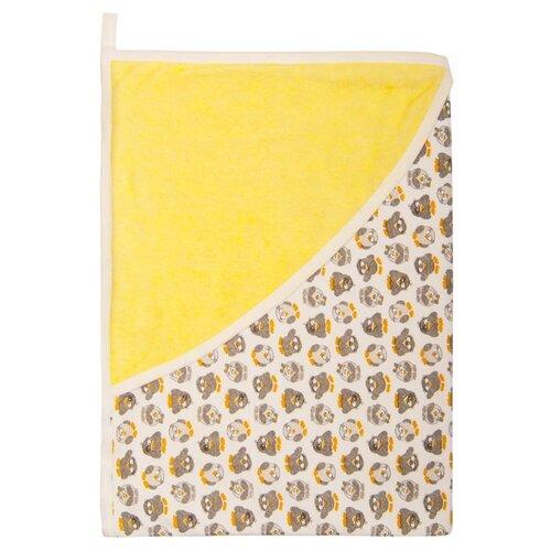 цена на Многоразовые пеленки Сонный Гномик махровая с уголком 90х90 солнечно-желтый
