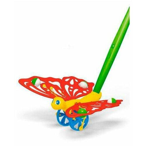 Купить Каталка-игрушка Stellar Бабочка (01363) красный/зеленый/синий, Каталки и качалки