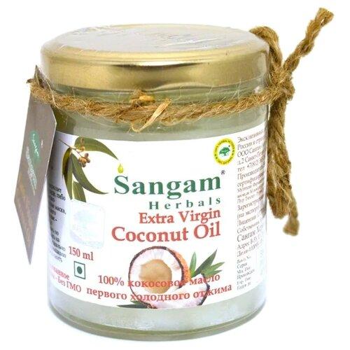 Фото - Sangam Herbals масло кокосовое Extra virgin, 0.15 л aroy d масло 100% кокосовое extra virgin 0 18 л