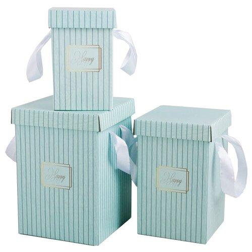 Фото - Набор подарочных коробок Дарите счастье Счастье 3 шт. голубой набор подарочных коробок tai an baoli paper product co ltd фауна 17 шт желтый