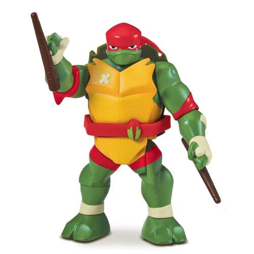 цена на Фигурка Playmates TOYS Rise of the Teenage Mutant Ninja Turtles: Рафаэль - Ниндзя-атака с разворота 81412