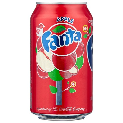 Газированный напиток Fanta Apple, США, 0.355 л