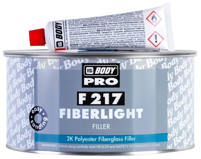 Комплект (шпатлевка, отвердитель) HB BODY PRO F217 Fiberlight