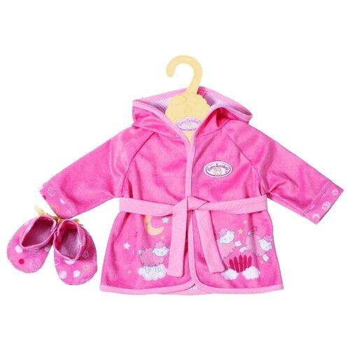Фото - Zapf Creation Уютный халатик и тапочки для кукол baby Annabell 701997 розовый baby annabell бутылочка для кукол