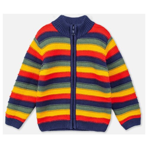 Кардиган playToday размер 86, темно-синий/темно-зеленый/красный/желтый комбинезон playtoday размер 56 синий красный желтый