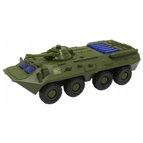 Купить Бронетранспортер Play Smart БТР-80 (6409A) 1:54 17 см зеленый, Машинки и техника
