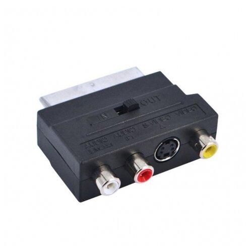 Фото - Переходник Орбита SCART-3RCA+S-VHS черный переходник