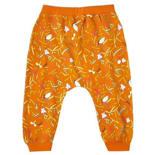 Брюки Vorob\'i Стрекозы v19-14016 размер 86, оранжевый