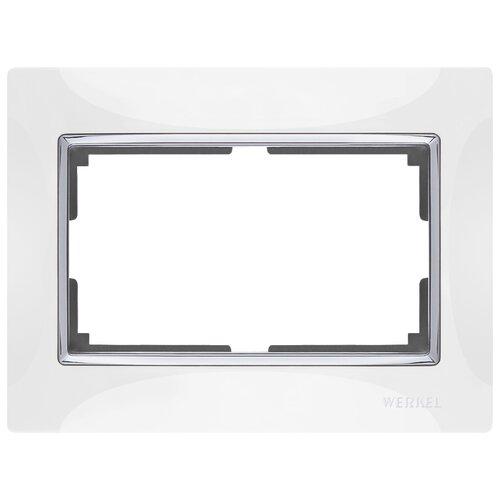 Рамка 1п Werkel WL03-Frame-01-DBL, белый рамка 1п werkel wl01 frame 01 dbl белый