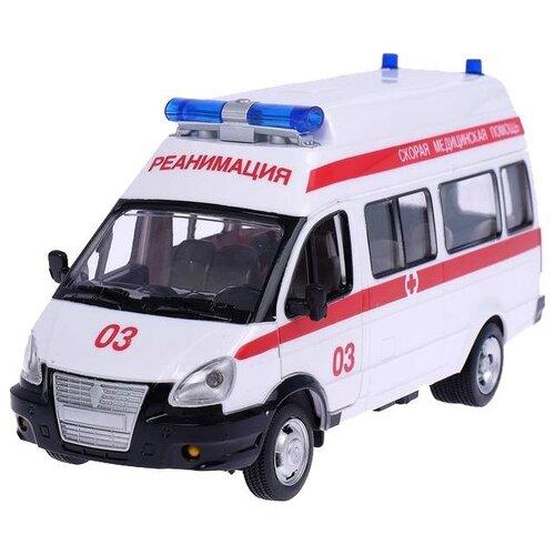 Микроавтобус Play Smart Автопарк Скорая помощь (9707-B) 1:29 19 см белый