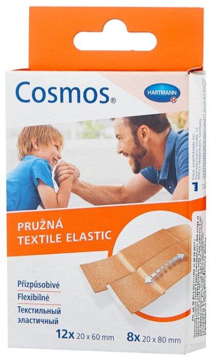 Cosmos Textile Elastic пластырь текстильный эластичный, 20 шт.