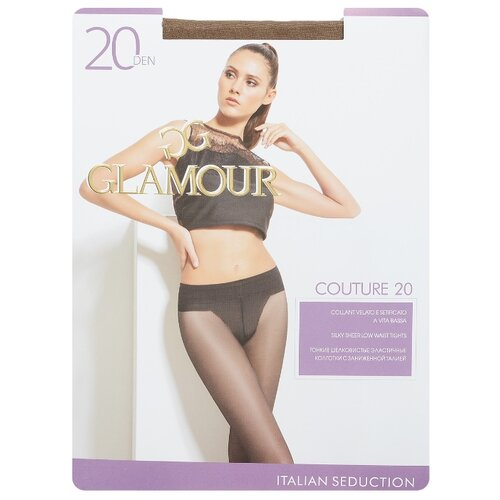 Колготки Glamour Couture 20 den, размер 4-L, daino (коричневый) колготки glamour beauty shape 40 den размер 4 l daino бежевый