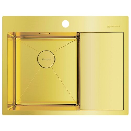 Фото - Врезная кухонная мойка 65 см OMOIKIRI Akisame 65-LG-L светлое золото врезная кухонная мойка 46 см omoikiri akisame 46 lg 4973081 светлое золото