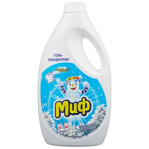 Гель Миф 3 в 1 Морозная свежесть, 2.08 л, бутылка