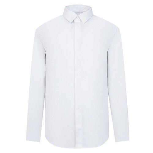 цена Рубашка Paolo Pecora размер 152, белый онлайн в 2017 году