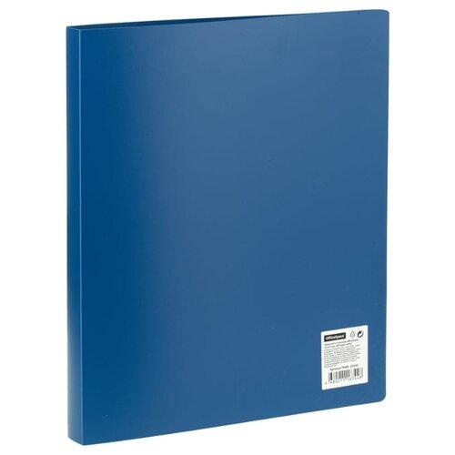 Купить OfficeSpace Папка на 4-х кольцах А4, пластик, 25 мм синий, Файлы и папки