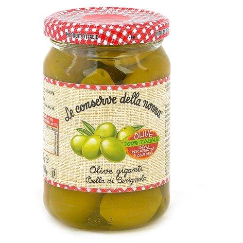 Le conserve della nonna Оливки зеленые Bella di Cerignola в рассоле, 290 г