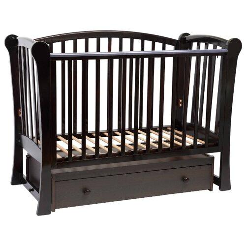Купить Кроватка Baby-Luce Лидер (классическая), поперечный маятник шоколад, Кроватки