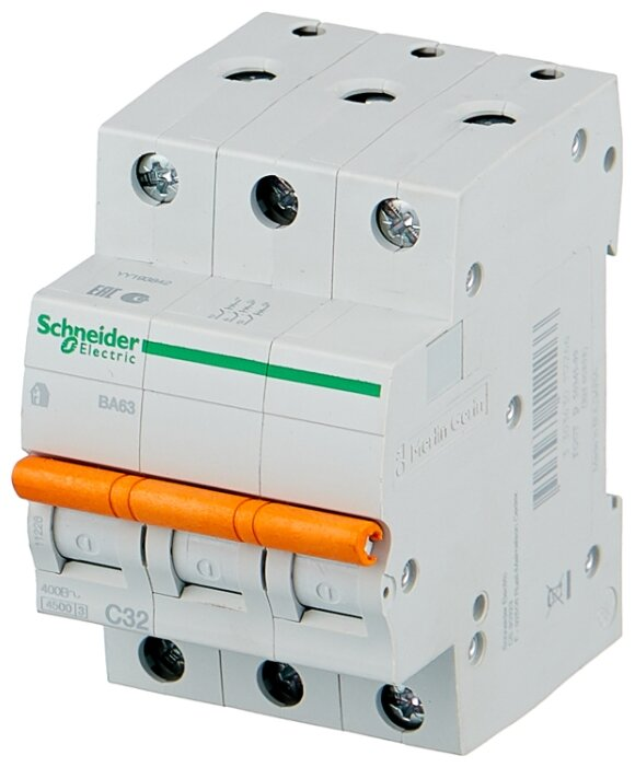 Автоматический выключатель Schneider Electric ВА63 3P (C) 4.5kA — купить по выгодной цене на Яндекс.Маркете