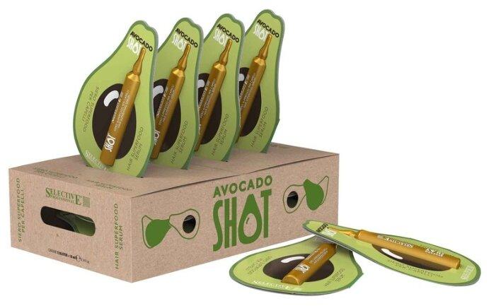 Selective Professional Avocado Shot Увлажняющая защитная сыворотка для волос и кожи головы