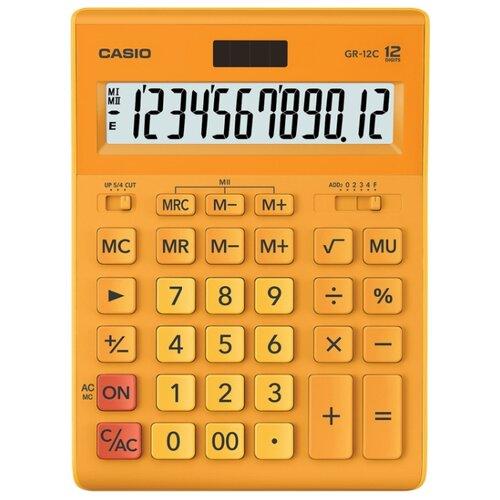 Калькулятор бухгалтерский CASIO GR-12С оранжевый