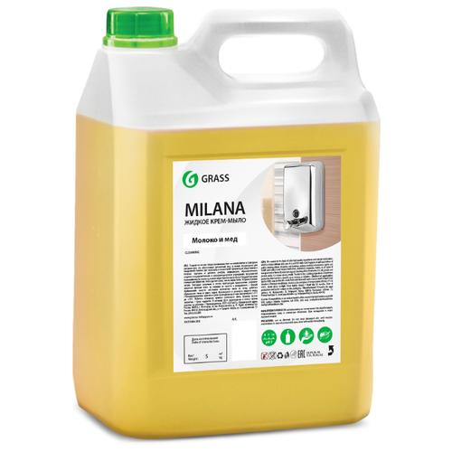 Крем-мыло жидкое Grass Milana молоко и мед, 5 л жидкое крем мыло milana молоко и мед 1 л с дозатором 1 6 grass