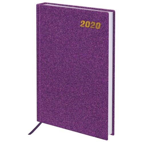 Ежедневник BRAUBERG Holiday датированный на 2020 год, А5, 168 листов, фиолетовый