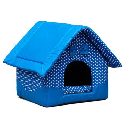 Домик для собак и кошек Сима-ленд Нежность (1657986/1657984) 37х35х42 см голубой холи ленд крем для век