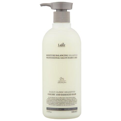 Фото - La'dor шампунь для волос Moisture Balancing увлажняющий для сухих и поврежденных волос, 530 мл активное мумиё увлажняющий шампунь для поврежденных волос 330 мл