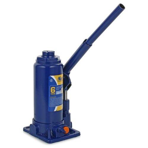 Домкрат бутылочный гидравлический KRAFT КТ 800016 (6 т) синий